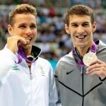 Chad Le Clos 1., Michael Phelps 2.