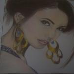Nináról készült rajzom