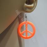 Neon narancssárga fülbevaló, ami egy békejel!!