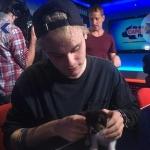 Mikey & cat..aww...♥♥