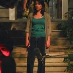 Neve Campbell, a Sikoly 4 forgatásán (2010)