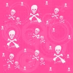 pink halálfejek